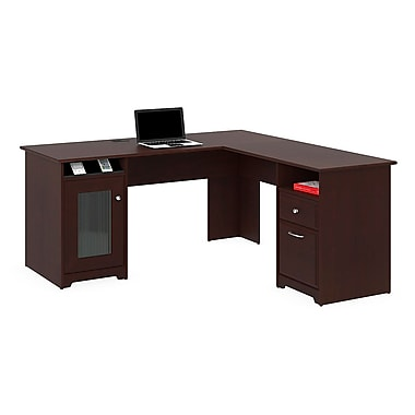 Bush Furniture Cabot 60W L-Desk, Harvest Cherry
