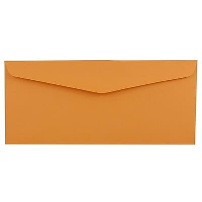 JAM Paper 12 Business Commercial Envelopes 4.75 x 11 Brown Kraft 25 pack 80762