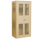 Salsbury Industries Military 2 Door Storage Cabinet; Tan