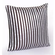 Jovi Home Fionia Hand Appliqued Throw Pillow; Brown/Silver
