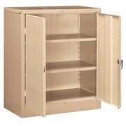 Salsbury Industries 42''H x 36''W x 18''D 2 Door Storage Cabinet; Tan