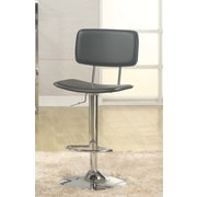 Whalen Furniture Lakeside Adjustable Height Swivel Bar Stool with Cushion