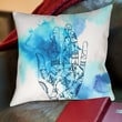 Americanflat Blue Wash Hand Polyester Throw Pillow; 16'' H x 16'' W x 2.5'' D