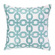 Cococozy Cococozy Links Embroidered Throw Pillow; Light Blue