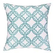 Cococozy Cococozy Pacific Trellis Embroidered Throw Pillow; Light Blue
