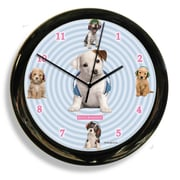 California Clocks Headphones Dog by Keith Kimberlin Clock