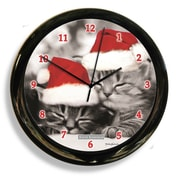 California Clocks Black and White Cat by Keith Kimberely Clock
