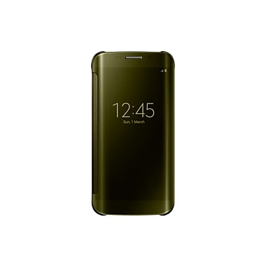 Samsung Clear View Cover for GS6 Edge. Gold