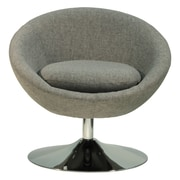 Fox Hill Trading Overman Disc Base Astro Barrel Lounge Chair; Light Gray