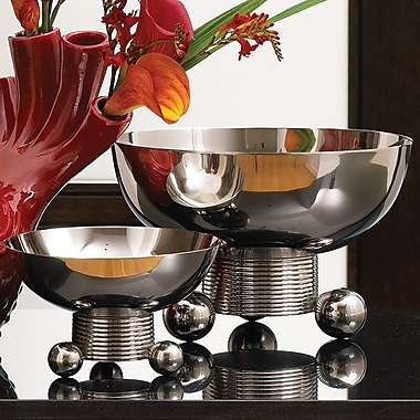 Global Views Double Ball Decorative Bowl; Small