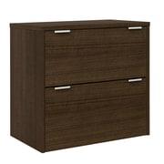 Bestar Contempo 2 Drawer Filing Cabinet; Tuxedo