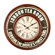 AdecoTrading Retro Round Roman Numerals ''London Tea Room'' Wall Hanging Clock