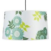 Lights Up! Weegee 2 Light Drum Pendant; Natural Linen