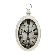 AdecoTrading Vintage-Inspired Pocket Roman Numerals and Eiffel Tower Wall Hanging Clock