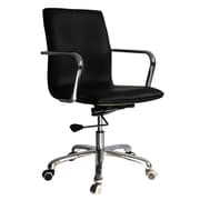 Fine Mod Imports Confreto Mid-Back Leather Conference Office Chair; Dark Brown