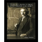 Graffitee Studios Office Albert Einstein Quote Frame Photographic Print