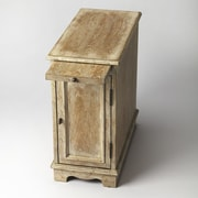 Butler Winslow Chairside Chest; White Wash