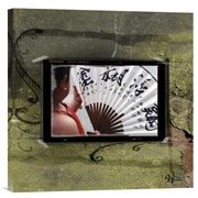 Global Gallery Shanghai Fan by Suzanne Silk Graphic Art on Wrapped Canvas