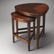 Butler Finnegan 2 Piece Nesting Tables; Antique Cherry