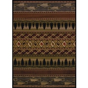 United Weavers of America Affinity River Ridge Lodge Brown Area Rug; 5'3'' x 7'2''