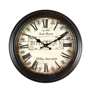 AdecoTrading 14.6'' Round ''Botanique'' Roman Numeral Wall Hanging Clock