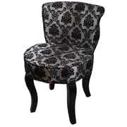 ORE Furniture Damask Side Chair; French Black / Gray