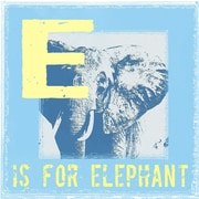 Graffitee Studios Animal Alphabet E is for Elephant Graphic Art on Wrapped Canvas