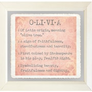Graffitee Studios Baby Name Girls Olivia Framed Textual Art