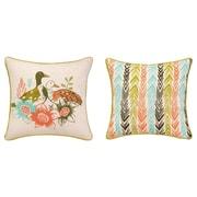 Sarah Watts Duck Among Flower Printed Reversible Throw Pillow