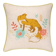 Sarah Watts Fox Park Printed Reversible Cotton Throw Pillow