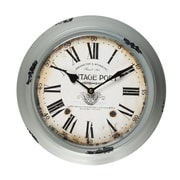 AdecoTrading 11.8'' Round Roman Numerals Wall Hanging Clock