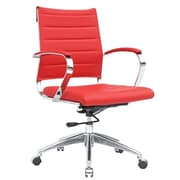 Fine Mod Imports Sopada Mid-Back Conference Office Chair; Red
