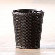 LaMont Carter 1-Gal Round Wastebasket; Black