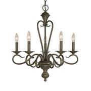 Millennium Lighting Devonshire 5-Light Candle-Style Chandelier; Burnished Gold