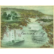 Graffitee Studios Maps Vintage Buzzards Bay Graphic Art on Wrapped Canvas