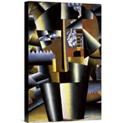Global Gallery Portrait of The Artist, I. Klyun by Kazimir Malevich Graphic Art on Wrapped Canvas