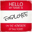 Graffitee Studios Hello My Name Is Employee Textual Art on Wrapped Canvas