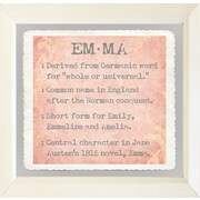 Graffitee Studios Baby Name Girls Emma Gel Coat Frame Textual Art
