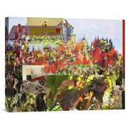 Global Gallery Napa Collage II by Suzanne Silk Graphic Art on Wrapped Canvas