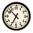 AdecoTrading 11.9'' Round Large Stylized Numbers Kitchen Office Wall Hanging Clock