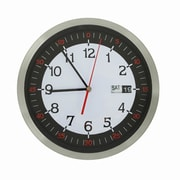 AdecoTrading 11.8'' Stainless Steel Round Wall Hanging Clock