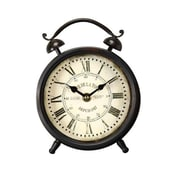 AdecoTrading Vintage-Inspired Roman Numerals Alarm Wall Hanging or Table Top Clock