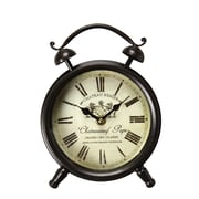 AdecoTrading Vintage-Inspired Roman Numerals ''Chateauneuf Pape'' Alarm Wall Hanging or Table Clock