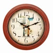 AdecoTrading 14.6'' Round Fork and Knife Design Kitchen Wall Hanging Clock