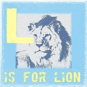 Graffitee Studios Animal Alphabet L Is for Lion Graphic Art on Wrapped Canvas
