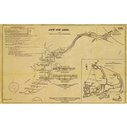 Graffitee Studios Maps 1922 Cape Cod Canal Plans Graphic Art on Wrapped Canvas