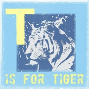 Graffitee Studios Animal Alphabet T is for Tiger Graphic Art on Wrapped Canvas