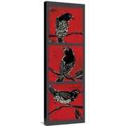 Global Gallery Black Birds by Mark Gleberzon Graphic Art on Wrapped Canvas