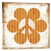 Global Gallery Flower Power Orange by Suzanna Anna Graphic Art on Wrapped Canvas