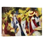 Global Gallery Girls Among Trees by August Macke Painting Print on Wrapped Canvas